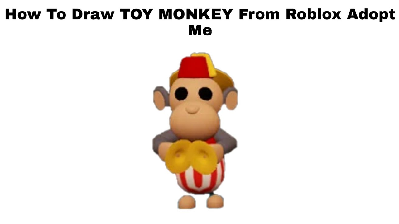 How To Draw Toy Monkey From Roblox Adopt Me Step By Step Youtube