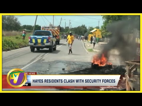 Clash with Residents & Security Forces Continue in Hayes Clarendon Jamaica   TVJ News - June 14 2021