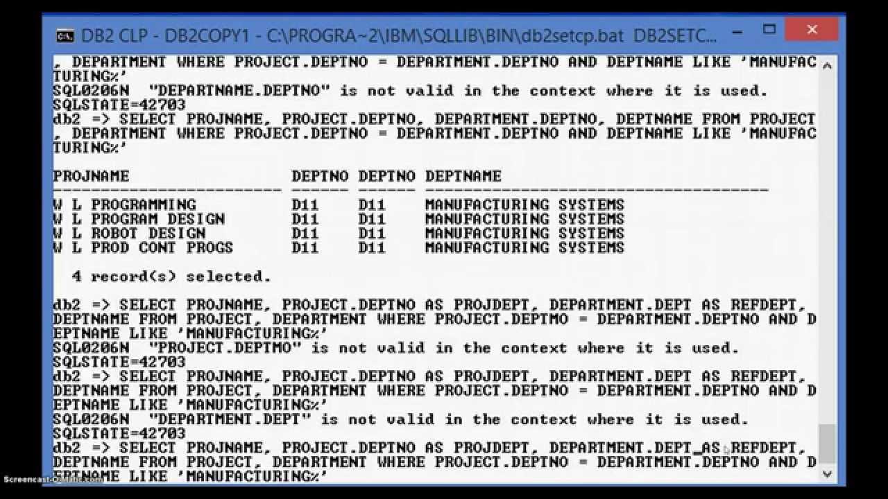 DB2 COMMAND LINE PROCESSOR - STAGE5