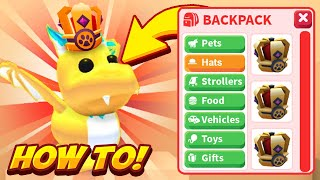 HOW TO GET YOUR PETS TO WEAR HATS IN ADOPT ME! Adopt Me Pets New Update!