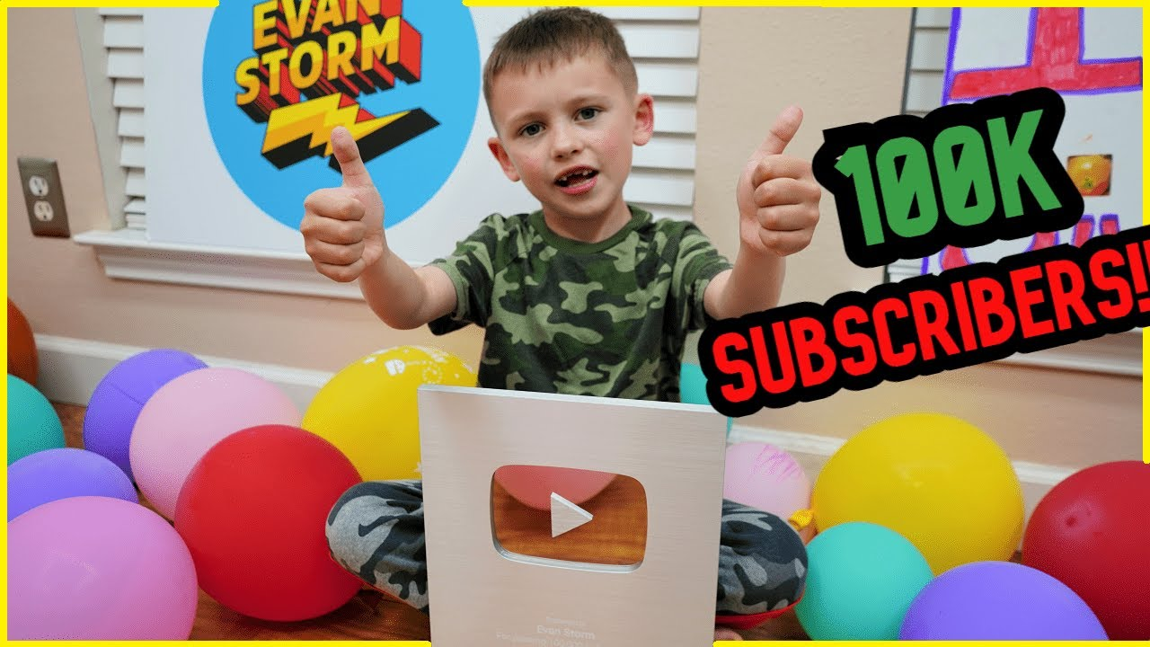 100K Subscribers!! Evan just got a Silver Play Button!