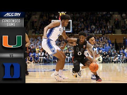 Miami Vs. Duke Condensed Game | 2019-20 ACC Men's Basketball