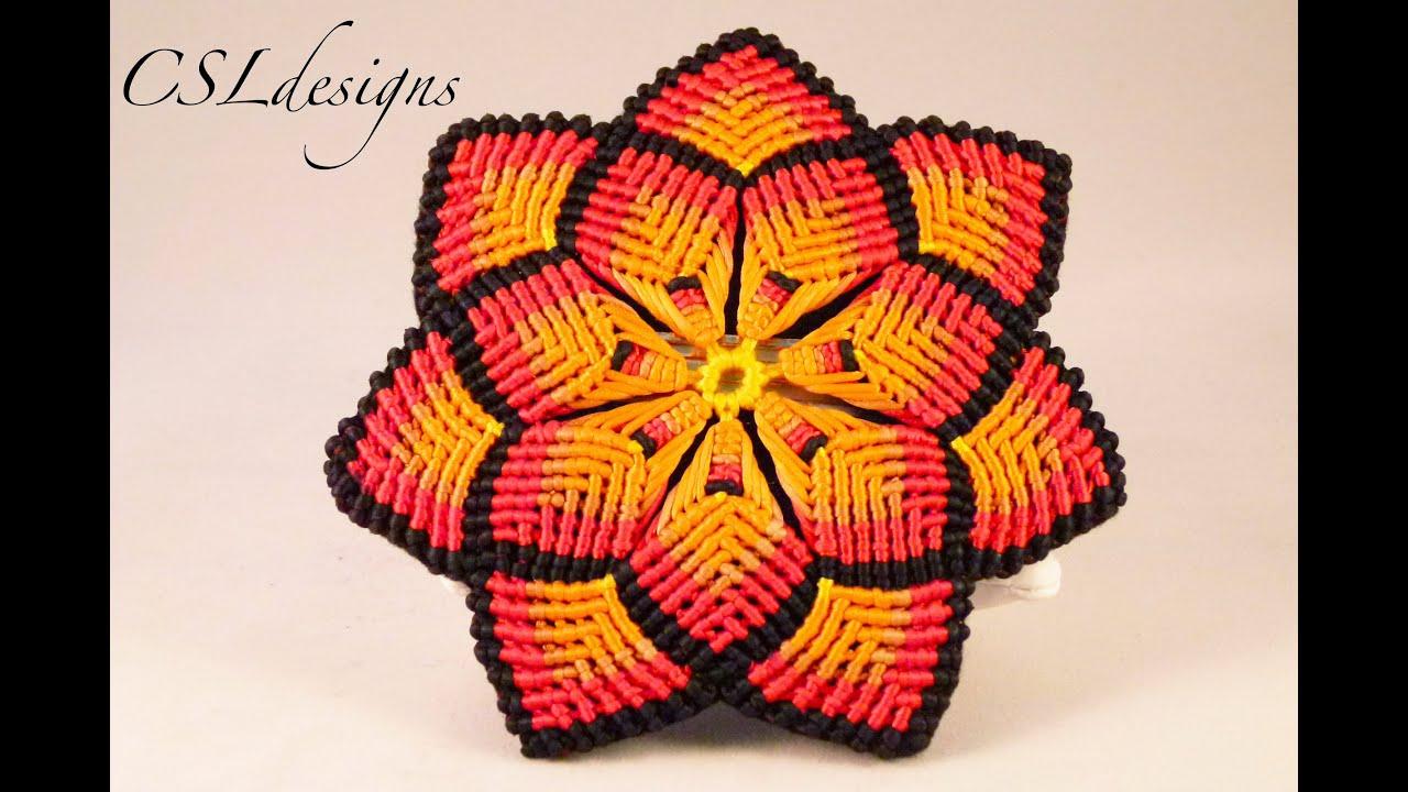Macrame Mandala Flower YouTube