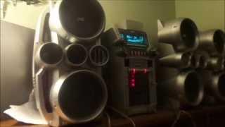 jvc hx stereo system dubstep bass test