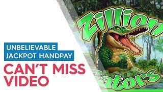 JACKPOT HANDPAY! Zillion Gators Slot - $15 Max Bet - AWESOME RETRIGGER BONUS!