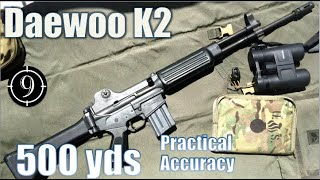 Daewoo K2 to 500yds: Practical Accuracy (Iron Sights)