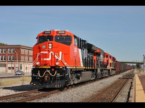 HD: October 2015 Trains w/ CN Tier 4's, BNSF, CREX, KCS, CSXT, UP, VLIX, Amtrak, CEFX & SOO Line