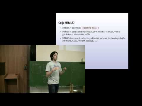 O HTML5 V HTML5 - Filip Hráček P1/2