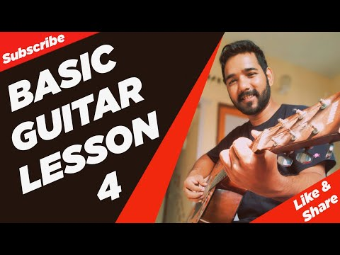 Basic Guitar Lesson 4 For Beginners In (Hindi) By
