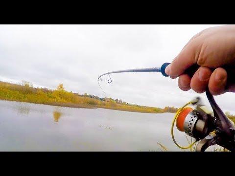 Ловля окуня на техасскую оснастку  Отличная рыбалка на маленьком пруду