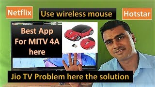 Best App for Mi Tv (4A) or android TV, how to use mouse /JIo TV./Netflix/Hotstar