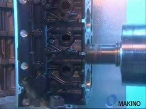 Horizontal CNC Machining of Compacted Graphite Iron (CGI) Automotive Diesel Engine Block