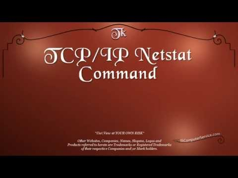 Network Tools : TCP\IP Netstat Network Command-Line Utility (Windows7 - Windows Vista)