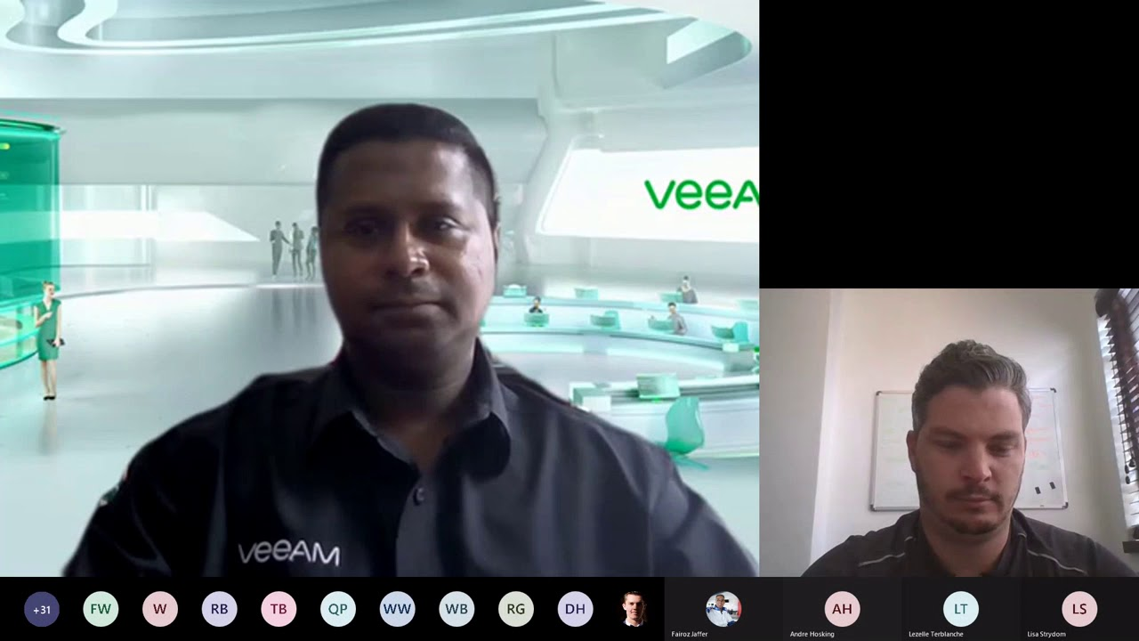 Veeam Ransomware and Business Continuity Workshop round 2