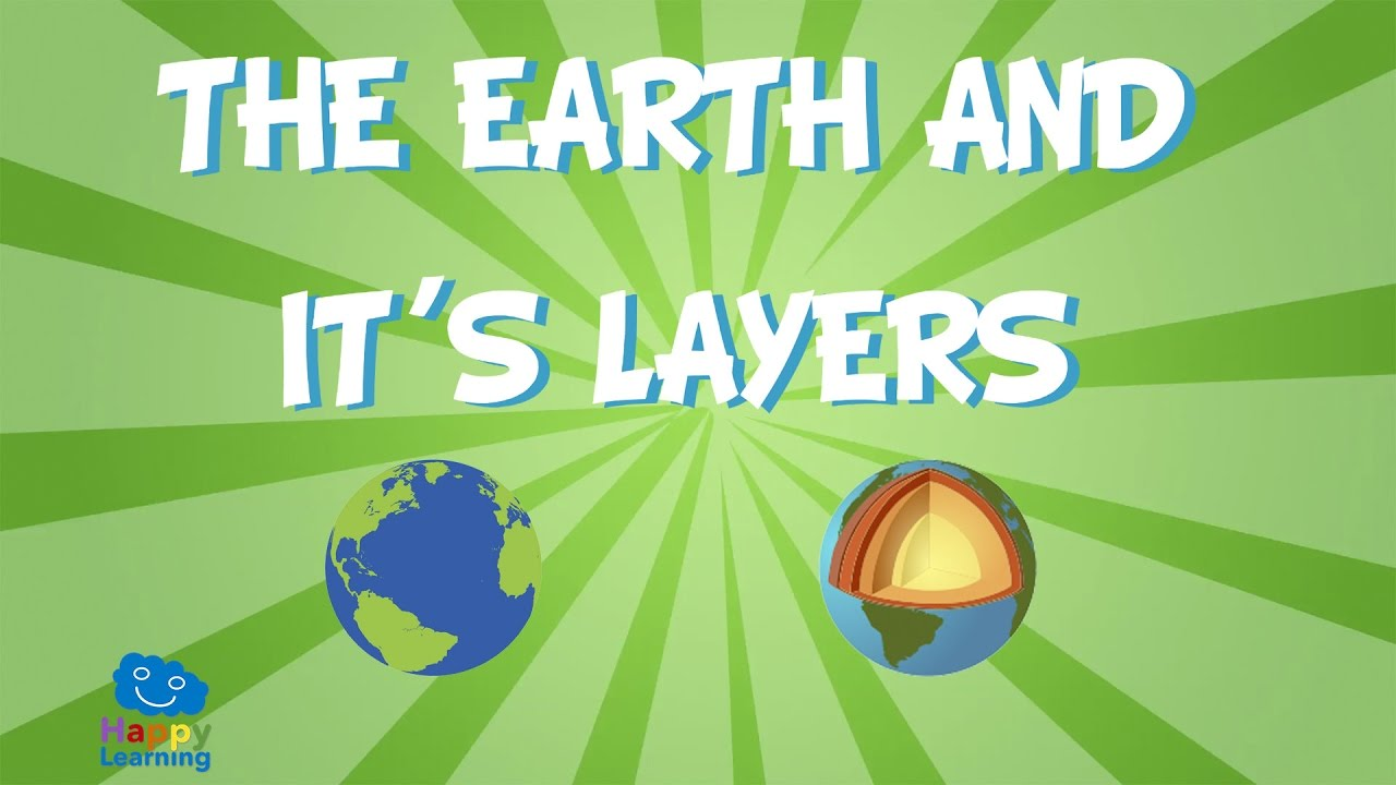 The Earth And Its Layers Educational Video For Kids Youtube