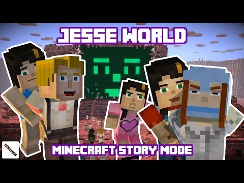 Destroying Jesse(F) PAMA World - Minecraft Story Mode (Jesse Theme)