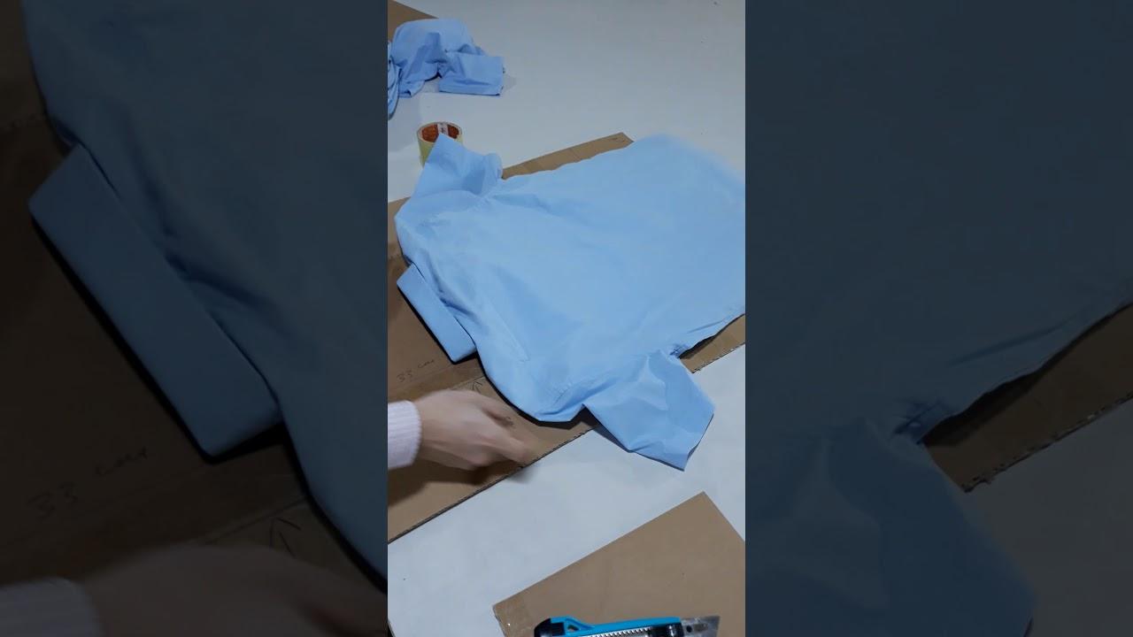 Hướng dẫn làm mẫu giấy gấp áo sơmi công nghiệp đơn giản.