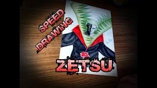 Speed Drawing - Zetsu Akatsuki (Naruto Shippuuden) COLLAB