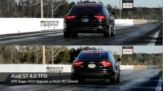 Audi S7 4.0 TFSI Quarter Mile - APR Stage I vs Stock