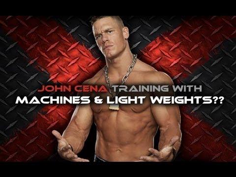 John Cena Workout - Machines and Light Weights?!?