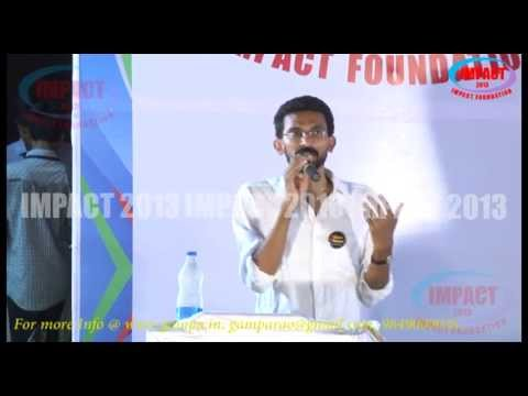 Mr Shekar Kamula Gari Speech And Q&A At IMPACT2013