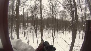 NEW YORK STATE 2013 MUZZLELOADER SEASON WITH ELUSION CAMO DOUBLE DEER KILL