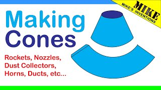 Making Cone Shapes - Mikes Inventions