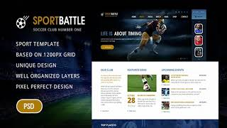 SportBattle – Sport and Soccer PSD Template | Themeforest Website Templates and Themes