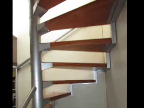 Escalera caracol con pasos de madera youtube for Escaleras caracol sodimac