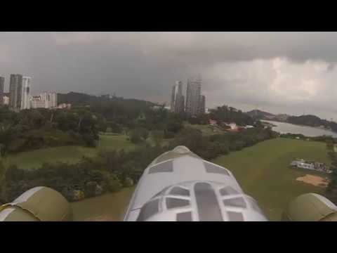 B17 HobbyKing Maiden Flight Mathias Steck @ Radio Modellers Singapore