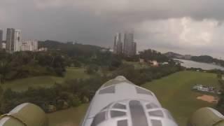 B17 HobbyKing Maiden Flight Mathias Steck @ Radio Modellers Singapore