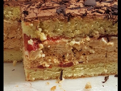 CHERRY CARAMEL MERINGUE CAKE