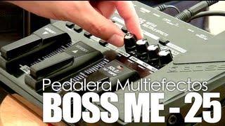 """vuclip """"Pedaleras y Efectos para guitarra eléctrica"""" - Boss ME 25 - Tutorial"""