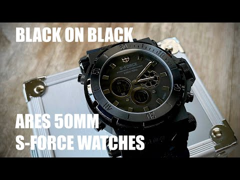 S-FORCE WATCHES ARES 50mm Large face watch. UNBOXING TOBY WOOLLEY