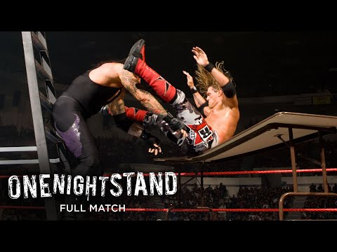 FULL MATCH - Undertaker vs Edge - World Heavyweight Championship TLC Match: WWE One Night Stand 2008