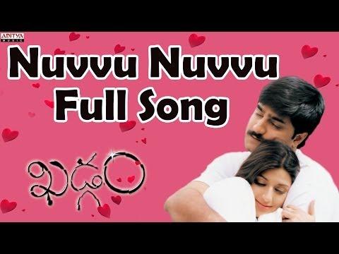 Nuvvu Nuvvu Full Song II Khadgam Movie II  Ravi Teja, Srikanth, Sonali Bindhre