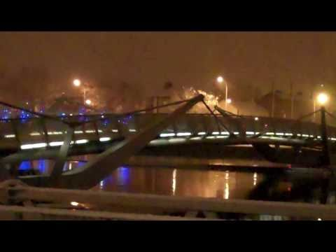 Dublin Sean O'Casey Bridge Christmas in the Snow 2010