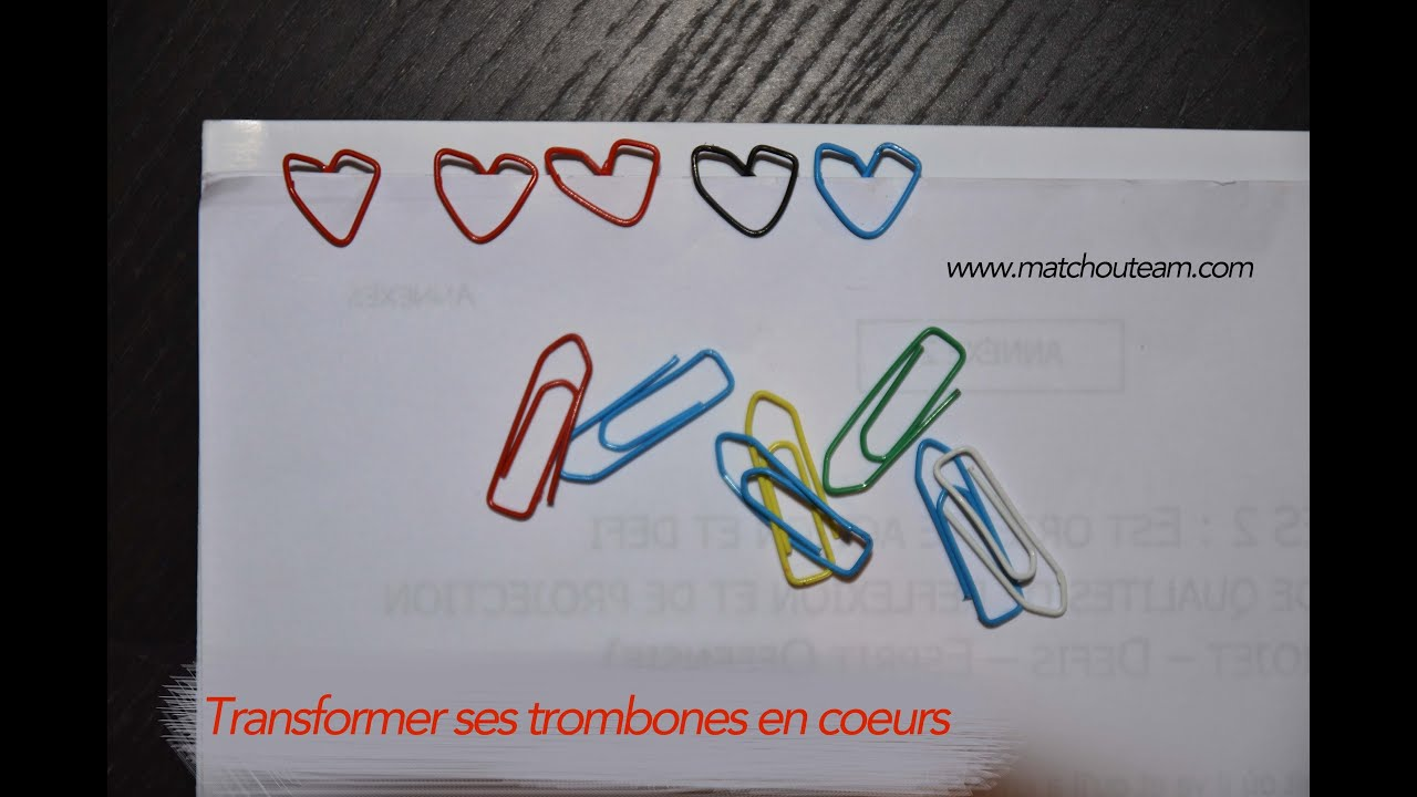 Souvent transformer un trombone en coeur - YouTube MW41