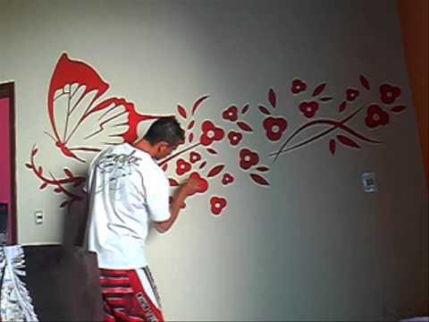 Pinturas e decora o borboleta sala youtube - Pinturas para salas ...