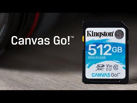 SDHC/SDXC-Karten der Klasse 10 UHS-I – Canvas Go! – Kingston Technology