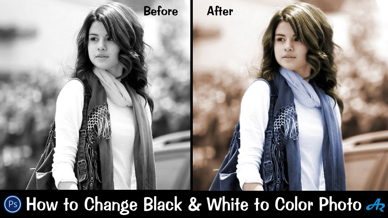 How to make black and white photo color in photoshop 2017best way to colorize black white photo