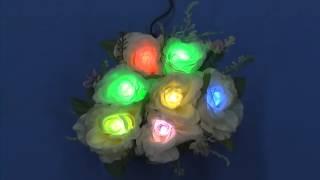 特許の光拡散LED(品名:エクセルライト)を造花に使用。それぞれの...