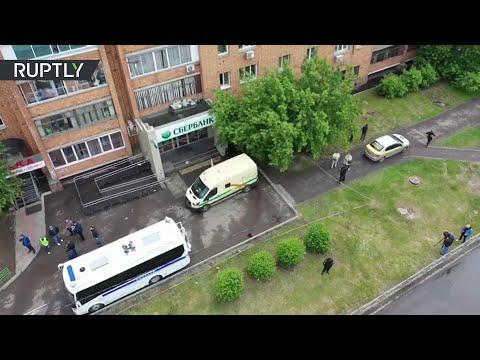 Видео с места нападения на инкассаторов в Красноярском крае