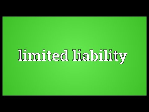 Limited liability Meaning