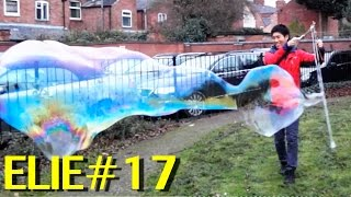 Making Giant Soap Bubbles with Elie, Amazing (Elie#17)