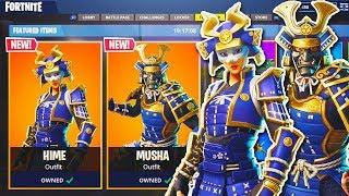 """NEW """"Musha + Hime"""" SKINS Gameplay in Fortnite! - NEW Fortnite UPDATE! (Fortnite Battle Royale)"""