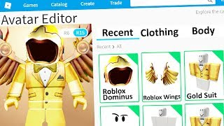 Using ONLY GOLD To Make A Roblox Account!