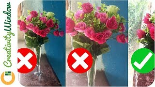 How to Make Plastic Flowers More Presentable