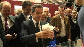 Nicolas Sarkozy au Salon de l