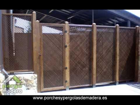 Celosias de madera pergomadera youtube for Pergolas de madera bricor